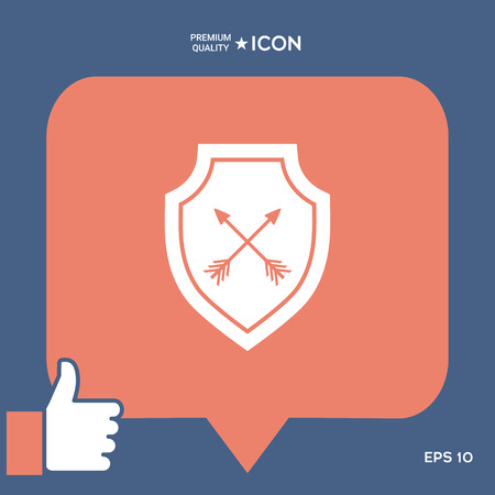 Shield with arrows. Protection icon Stock Vector - 90866410