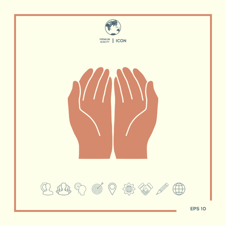 Open hands icon Vector illustration.