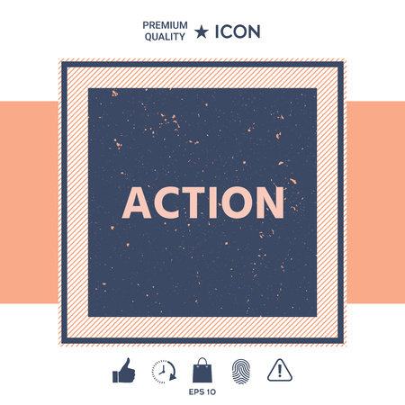 Action button symbol Vector illustration. Vectores
