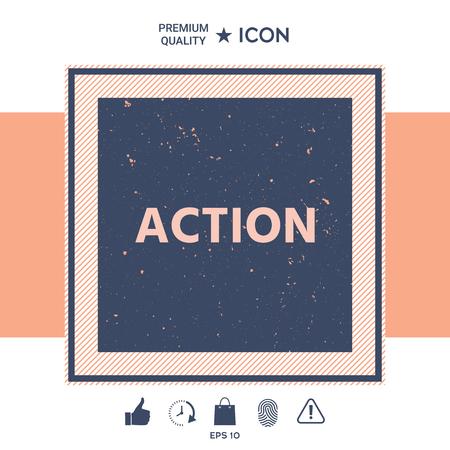 Action button symbol Vector illustration. Illustration