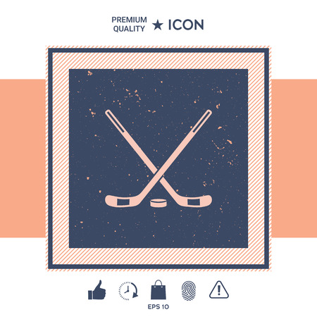 Hockey icon Illustration