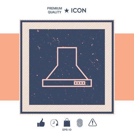 Kitchen hood linear icon 일러스트