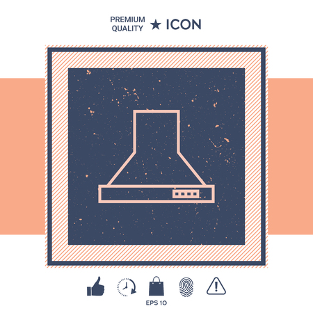 Kitchen hood linear icon Illustration