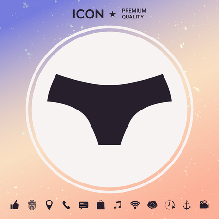 Women panties, the silhouette. Menu item in the web design Stock fotó - 91207522