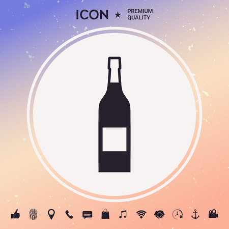 Bottle of wine icon Vector illustration.