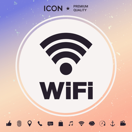 Internet connection symbol icon Vectores