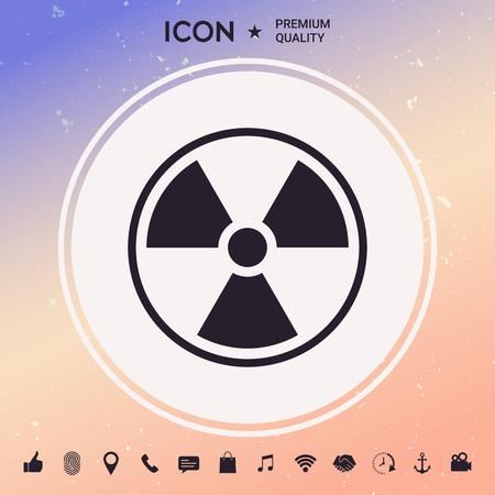 Ionizing radiation icon