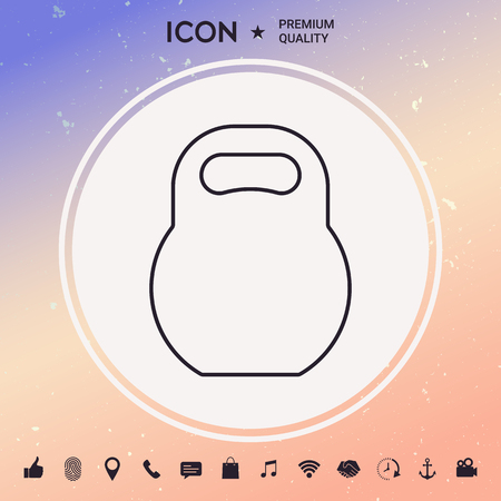 Kettlebell line icon