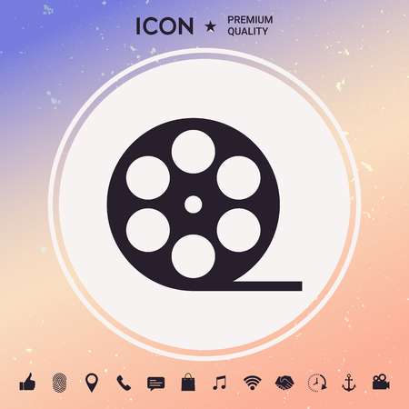 Reel film symbol icon Vector illustration.