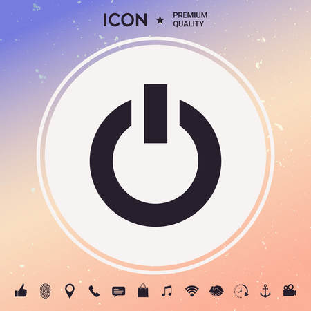 Power button icon illustration.