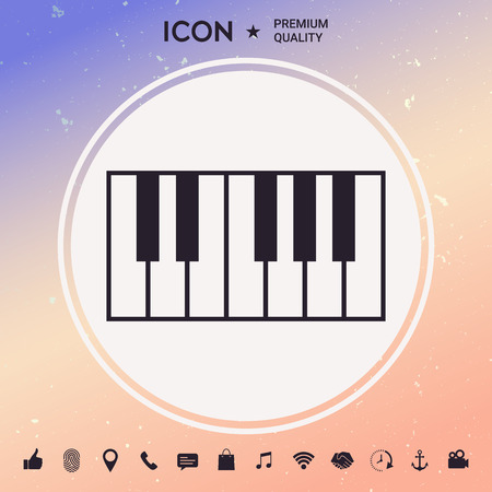 Piano keyboard icon Illustration