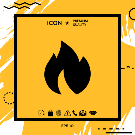 Fire, flame icon. Element for your design
