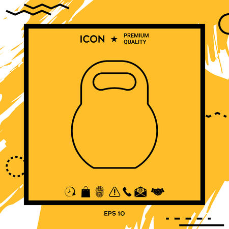 Kettlebell line icon . Element for your design