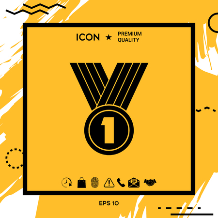Medal Icon Vector illustration.  Element for your design