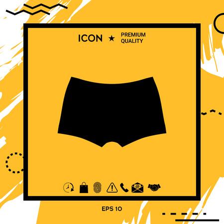 Men underwear, the silhouette. Menu item in the web design . Element for your design