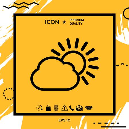 Sun cloud line icon . Element for your design