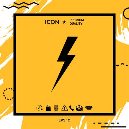 Thunderstorm lightning icon . Element for your design
