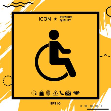 Wheelchair handicap icon Stock Illustratie