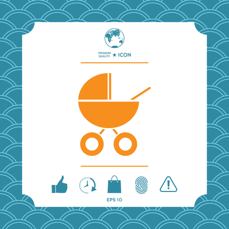Baby carriage icon. Element for your design