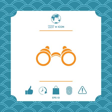 Binoculars symbol icon. Element for your design