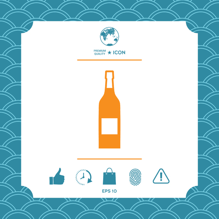 Bottle of wine icon. Element for your design