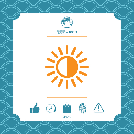 Brightness symbol icon. Element for your design