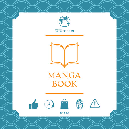Elegant logo with book symbol with pages. Element for your design