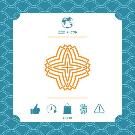 Geometric arabic pattern. Logo for your design Иллюстрация