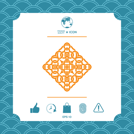 Geometric arabic pattern. Logo vector illustration.