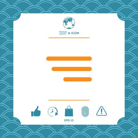 Icône de menu moderne pour les applications mobiles et les sites Web Banque d'images - 91700764