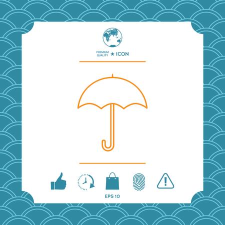 Umbrella line icon Çizim
