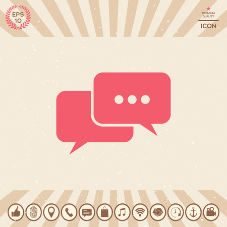 Chat symbol icon. Element for your design Vectores