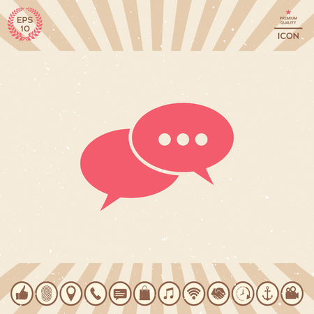 Chat sign icon. Element for your design Vectores