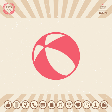 Children toy, bouncy ball - icon. Element for your design Vectores