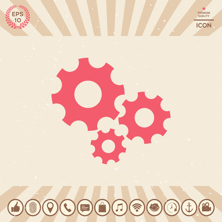 Graphic element for your design. gear Vector illustration.