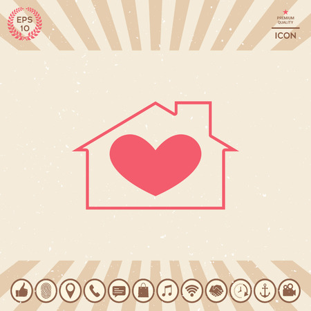 House with heart symbol