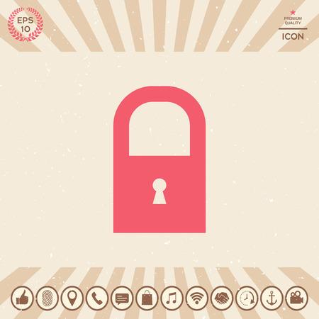 Lock symbol icon Ilustração