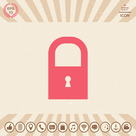 Lock symbol icon Illustration