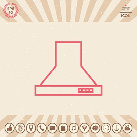 Kitchen hood linear icon Ilustração