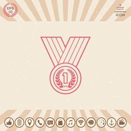 Graphic element for your design. medal Vector illustration.