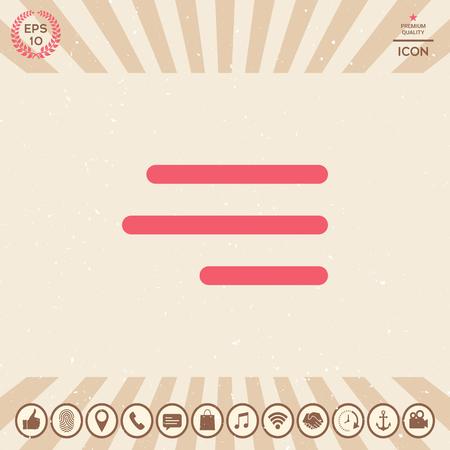 Icône de menu de hamburger moderne pour les applications mobiles et les sites Web