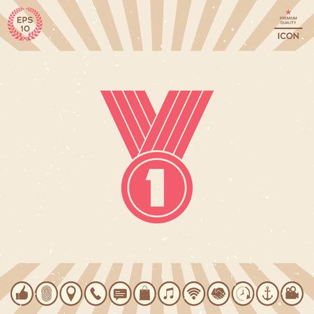 Medal symbol Icon Illusztráció