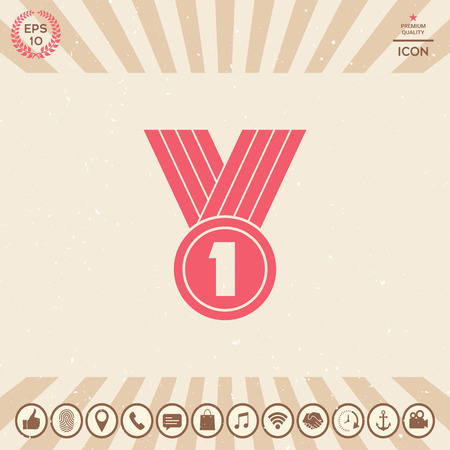 Medal symbol Icon Vectores