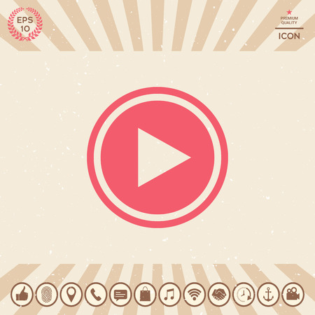 Play icon Illustration