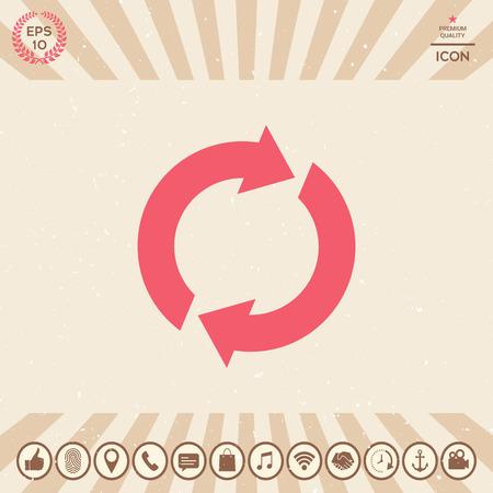 Reset button, reload arrows