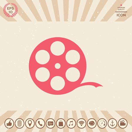 Graphic element for your design. Film reel Vector illustration.
