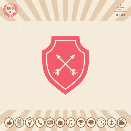 Graphic element for your design. Shield Vector illustration.