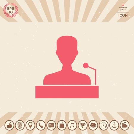 Graphic element for your design. Speaker Vector illustration.
