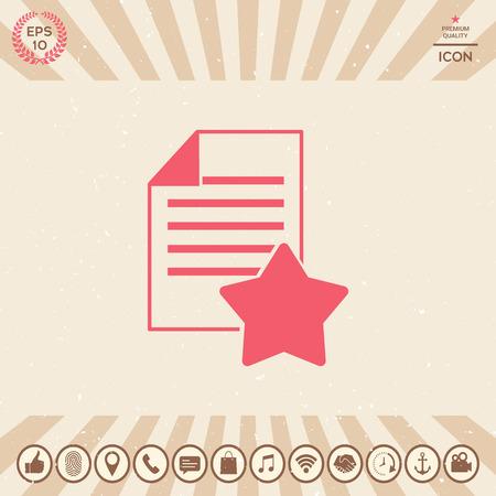 Garantieblatt aus Papier mit einem Stern. Symbol Standard-Bild - 92102394