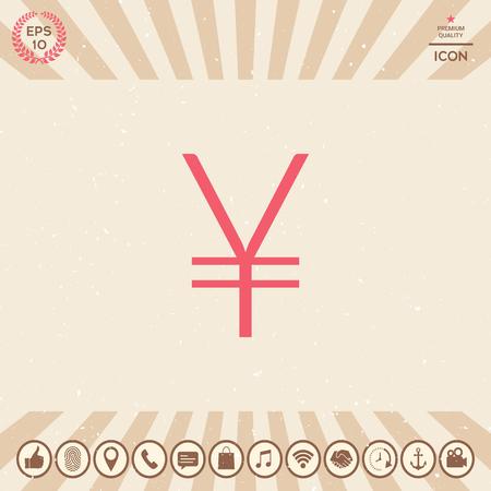 Yen symbol icon Ilustração